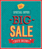 Big sale typographic design. Stock Photos