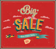 Big sale typographic design. Royalty Free Stock Photography