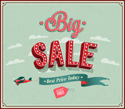 Big sale typographic design. Stock Image