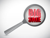 Big sale under magnify search investigation Stock Photos