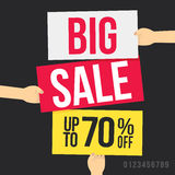 Big sale. Up to 70% off. Vector illustration Stock Photos