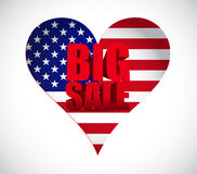 Big sale us holiday business sign Royalty Free Stock Image