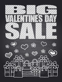 Big Sale Valentine's Day chalkboard card Royalty Free Stock Photo