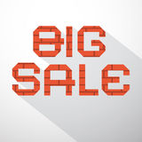 Big Sale Vector Bricks Title Royalty Free Stock Image