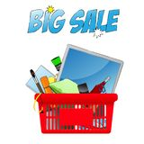Big Sale, vector chopping card with objects. Big Sale, vector chopping card . EPS10 Vector stock illustration