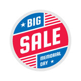 Big sale - vector circle banner concept illustration on white background. Memorial day creative badge. Abstract advertising promo. Big sale - vector circle Royalty Free Illustration