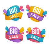 Big sale, vector collection of bright discount bubble tags, bann. Ers and stickers Stock Photo
