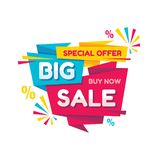 Big sale - vector creative banner illustration. Abstract concept discount promotion layout on white background. Special offer. vector illustration