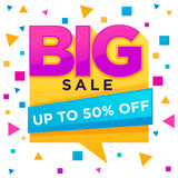 Big Sale, vector flyer, t Royalty Free Stock Images