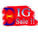 Big sale, vector handwritten text vector illustration