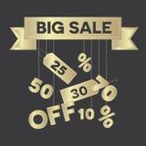Big sale vector illustration Royalty Free Stock Photos