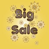 Big sale   vector illustration eps10. Big sale  Background big competition concept design figure final illustration isolated line only people red reductions run Royalty Free Stock Images