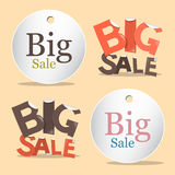 Big Sale Vector Labels - Tags Set Royalty Free Stock Photography