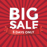 Big Sale vector with red Background Stock Image