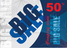 Big sale, vector template background Royalty Free Stock Image