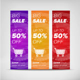 Big sale vertical banners Royalty Free Stock Photography