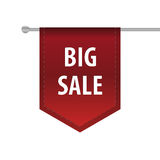 Big sale vertical ribbon bookmark tag. Vector Stock Photos