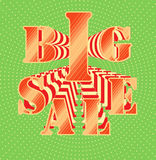 Big sale on vivid background Stock Photo