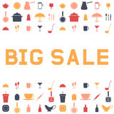 Big sale ware. Design an advertising flyer or banner. Vector ill. Ustration. Flat style Royalty Free Stock Photo
