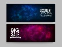 Big Sale web header or banner set. Big Sale website header or banner set with 50% discount offer Stock Photos