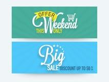 Big sale web header or banner set. Stock Image