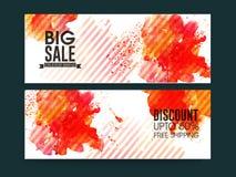 Big Sale website header or banner set. Big Sale website header or banner set with 50% discount offer and splash Stock Photography