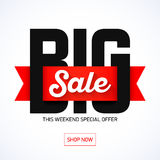 Big Sale Weekend banner Stock Photos