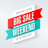 Big Sale Weekend Royalty Free Stock Photography