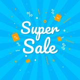 Big Sale Weekend, special offer banner up to 50 off. Vector illustration. Royalty Free Stock Photography