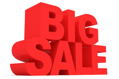 Big Sale on White Background Royalty Free Stock Image