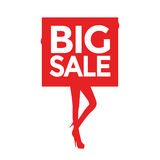 Big sale women silhouettes Stock Image