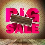 Big sale with wood for copy space. Stock Photography