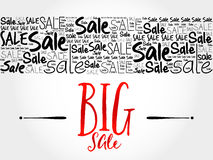 BIG SALE word cloud background Stock Photos