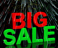 Big Sale Word And Fireworks Royalty Free Stock Photos