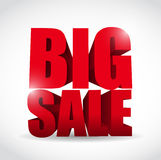 Big sale word illustration design Royalty Free Stock Photography