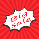 Big Sale Word. Vector illustration in flat style Royalty Free Stock Photo