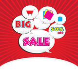 Big sale word Royalty Free Stock Photos