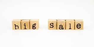 Big sale wording isolate on white background Stock Image