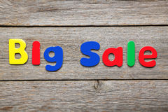 Big Sale words Royalty Free Stock Photo