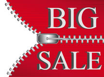 Big sale zipper background Stock Photo