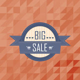 Big sales badge on mosaic pattern background Royalty Free Stock Image