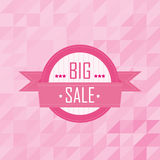 Big sales badge on mosaic pattern background Royalty Free Stock Photography