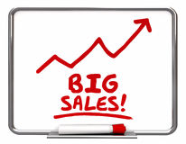 Big Sales More Selling Arrow Up Words. 3d Illustration Stock Images