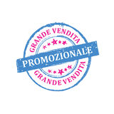 Big Sales! NOW! Italian stamp for print Royalty Free Stock Photo