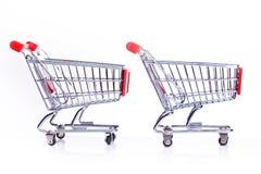 Big sales,shopping carts Stock Image