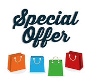 Big sales and special offers shopping Stock Photos