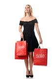 The big sales - Women with Sale Bags Royalty Free Stock Photo