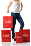 The big sales - of women shopping Royalty Free Stock Photography
