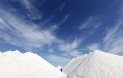Big salt mountains Royalty Free Stock Images