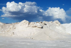Big salt pile Stock Images